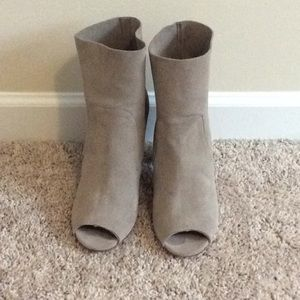 Chinese Laundry taupe suede booties